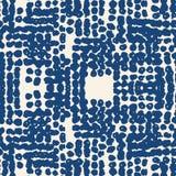 Vector shibori seamless print. Beige white dot pattern. Vector shibori spotty seamless print. Organic hipster watercolor background. Tie dye tile. Geometric Royalty Free Stock Photography