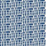 Vector shibori seamless print. Black white grid pattern. Vector shibori seamless print. Organic watercolor background. Tie dye tile. Geometric cross pattern Royalty Free Stock Photography