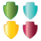 Vector shield. Set of vector shields for design royalty free illustration