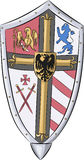 Vector. Shield with coat of arms. Stock Images