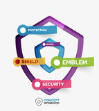 Vector shield icon infographic concept Stock Photo