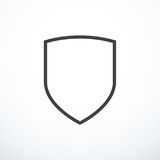 Vector shield icon. Shield line icon. Vector illustration royalty free illustration