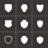 Vector shield icon set Royalty Free Stock Image