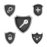 Vector shield icon Royalty Free Stock Photo