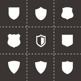 Vector shield icons set Royalty Free Stock Photos