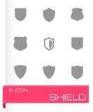 Vector shield icons set Royalty Free Stock Photo