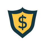 Vector shield with money. Stock Photo