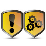 Vector shield protector Stock Images