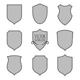 Vector shield silhouette for graphic design Stock Image
