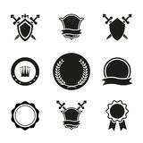 Vector Shields  Crowns and Emblems Stock Image