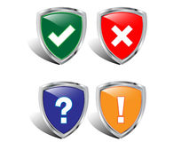 Vector shields icon for web. Stock Image