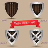 Vector shields - set 1 Royalty Free Stock Image