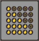 Vector shilouettehanden. Originele classificatie voor uw website. Luxur Royalty-vrije Stock Afbeelding