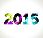 2015. Vector shine illustration. Year Stock Photos