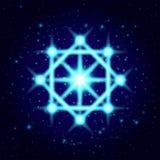Vector shine spiritual symbol. Sacred geometry stock illustration