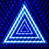 Vector Shining Background, Triangles, Glowing in the Dark Lines, Neon. vector illustration