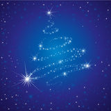Vector Shining Background With Christmas Tree Royalty Free Stock Photo