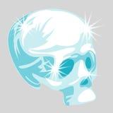 Vector shining crystal skull in cartoon style Royalty Free Stock Photography