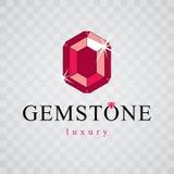 Vector shining gemstone design element. Brilliant jewelry sign e Stock Photo