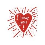 Vector shining heart love poster Stock Photo