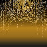 Vector shiny background with golden sequins. Horizontal background with dispersed particles. Vector illustration. Perfect for gree. Ting card, banners,decoration royalty free illustration