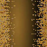Vector shiny background with golden sequins. Vertical background with dispersed particles. Vector illustration. Perfect for greeti. Ng card, banners,decoration royalty free illustration