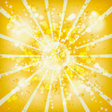Vector shiny background. Retro sun Stock Photos