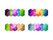 Vector shiny blank web option boxes Royalty Free Stock Photo