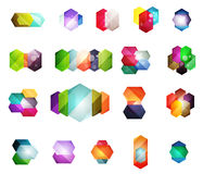 Vector shiny blank web option boxes Royalty Free Stock Images