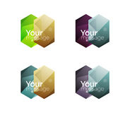Vector shiny blank web option boxes Stock Photos