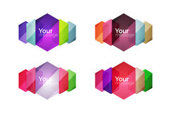 Vector shiny blank web option boxes Stock Photography