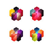 Vector shiny blank web option boxes Royalty Free Stock Photos