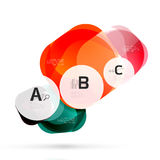 Vector shiny blank web option boxes Stock Images