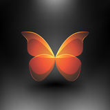 Vector Shiny Butterfly Royalty Free Stock Photos