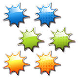 vector shiny buttons Royalty Free Stock Photography