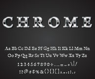 Vector shiny chrome letters. Vector shiny chrome  letters dark background vector Stock Photography