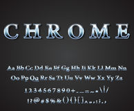 Vector shiny chrome letters. Vector shiny chrome  letters dark background vector Royalty Free Stock Photo