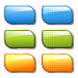 vector shiny color banners Royalty Free Stock Photography