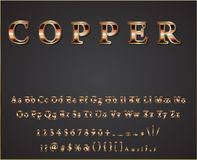 Vector shiny copper letters Stock Photography