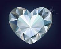 Vector shiny diamond heart Royalty Free Stock Photo