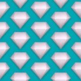 Vector shiny diamond seamless pattern Stock Photo