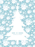 Vector shiny diamonds Christmas tree silhouette Royalty Free Stock Photos