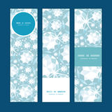 Vector shiny diamonds vertical banners set pattern Stock Photography