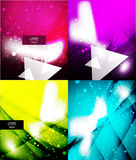Vector shiny glittering light background. Vector shiny glittering light abstract background Royalty Free Stock Photography