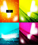 Vector shiny glittering light background. Vector shiny glittering light abstract background Stock Photography