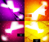 Vector shiny glittering light background. Vector shiny glittering light abstract background Royalty Free Stock Images