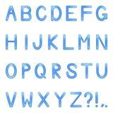 Vector shiny letters set Royalty Free Stock Photo