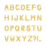 Vector shiny letters set Royalty Free Stock Images
