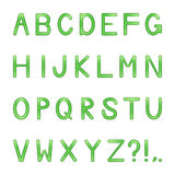 Vector shiny letters set Royalty Free Stock Photography