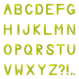 Vector shiny letters set Stock Photography